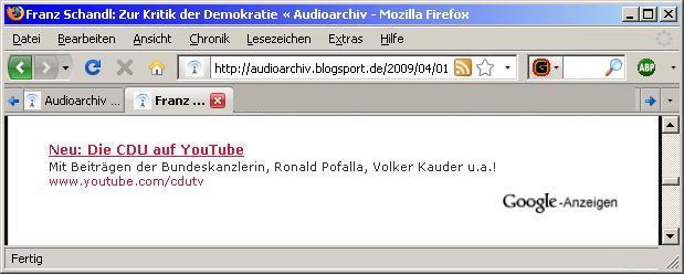 Die Bundeskanzlerin und CDUTV zur Kritik der Demokratie